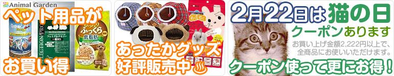 2月22日は猫の日クーポン!猫以外にも使えます!