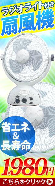 ブラシレスDCモーター採用 ラジオライト付扇風機!