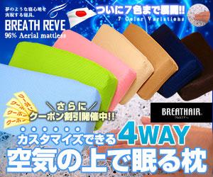 東洋紡ブレスエアー使用!爽やかな3Dまくら!