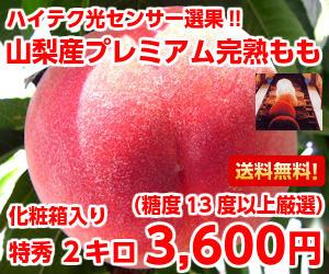 甘〜い果汁たっぷり♪僅かしか選果されない特秀完熟桃