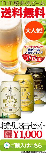 送料無料人気のお試し3缶セット THE軽井沢ビール