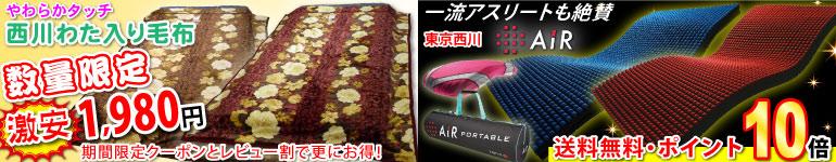 西川わた入毛布が1980円♪人気のエアーはポイント増量