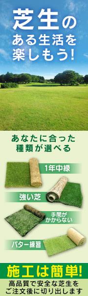 高品質な芝生で施工も簡単。ガーデンライフを楽しもう